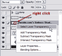 Select Layer Transparency